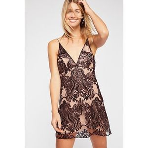 Free People Night Shimmers Mini Dress Size 4 NWT